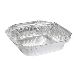270mL Takeaway Small Shallow Foil Tray Square 112x112x25mm