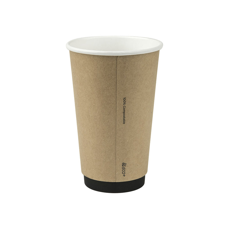 16oz/475ml Kraft PLA Double Wall Cup