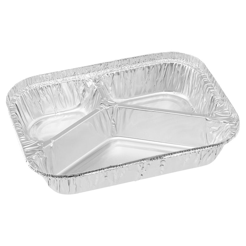600mL 3 Cavity Foil Meal Tray 190x140x33mm