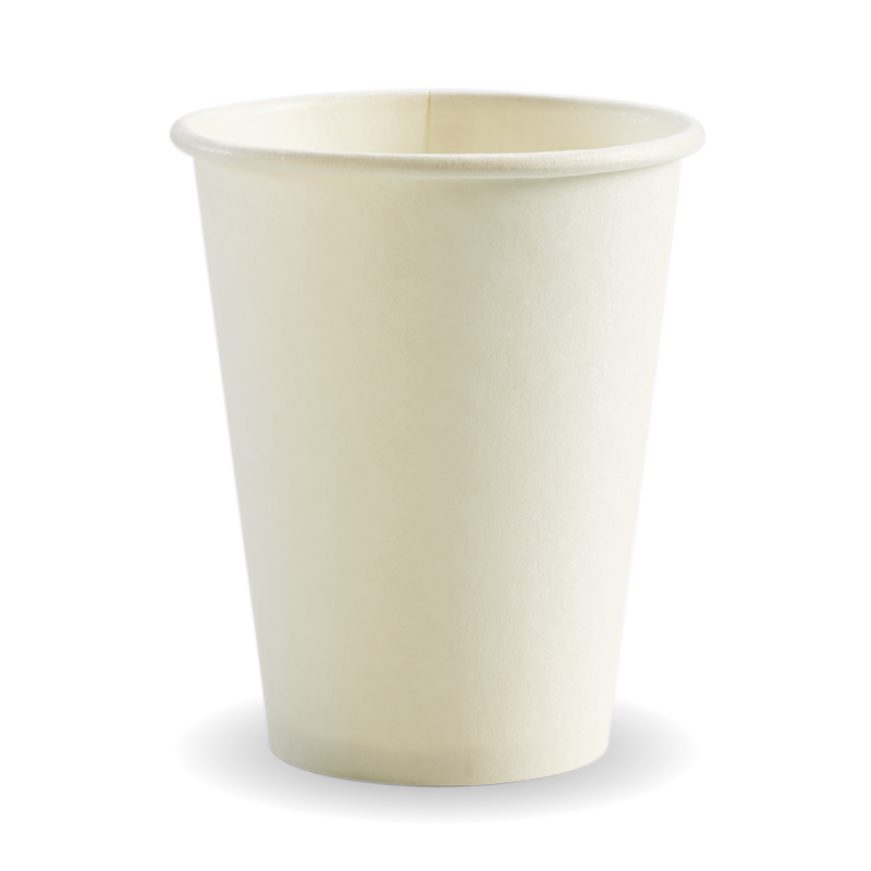 390ml / 12oz (90mm) White Single Wall BioCup