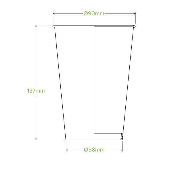 510ml/16oz Cold Paper BioCup