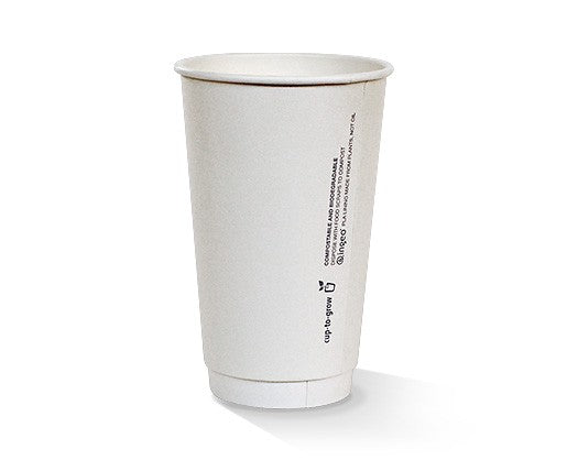 16oz PLA coated DW Cup / plain white