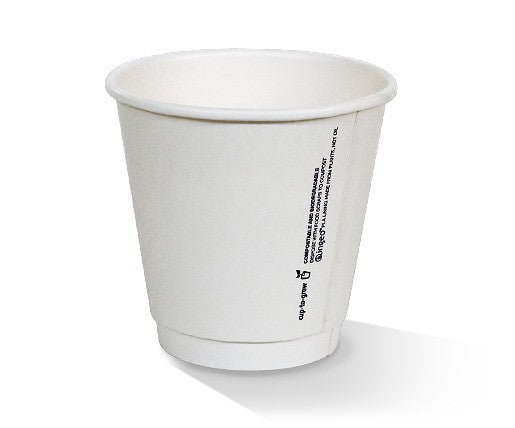*8oz PLA coated DW Cup /one-lid-fits-all
