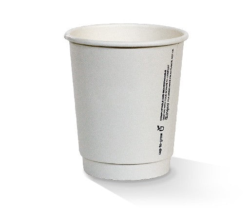 8oz PLA coated DW Cup/plain white/standard