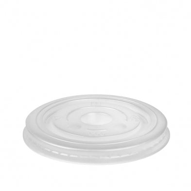 12-24OZ WHITE FLAT PS LID