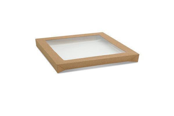 Square Catering Tray Lid PET - Medium 250x250x30 mm