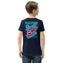 Load image into Gallery viewer, Youth Wakepoint Pink Boat Short Sleeve Shirt