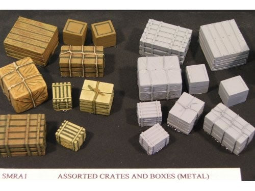 SMRA01 Assorted Crates and Boxes (Metal & Resin)