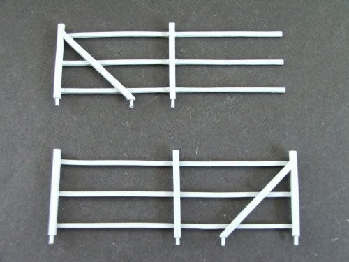 SMRS11 3 Rail Fencing pair of ends (metal)