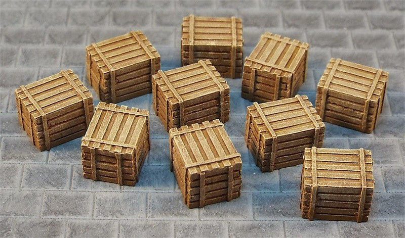 4A/006 Wooden Crates (metal x10)
