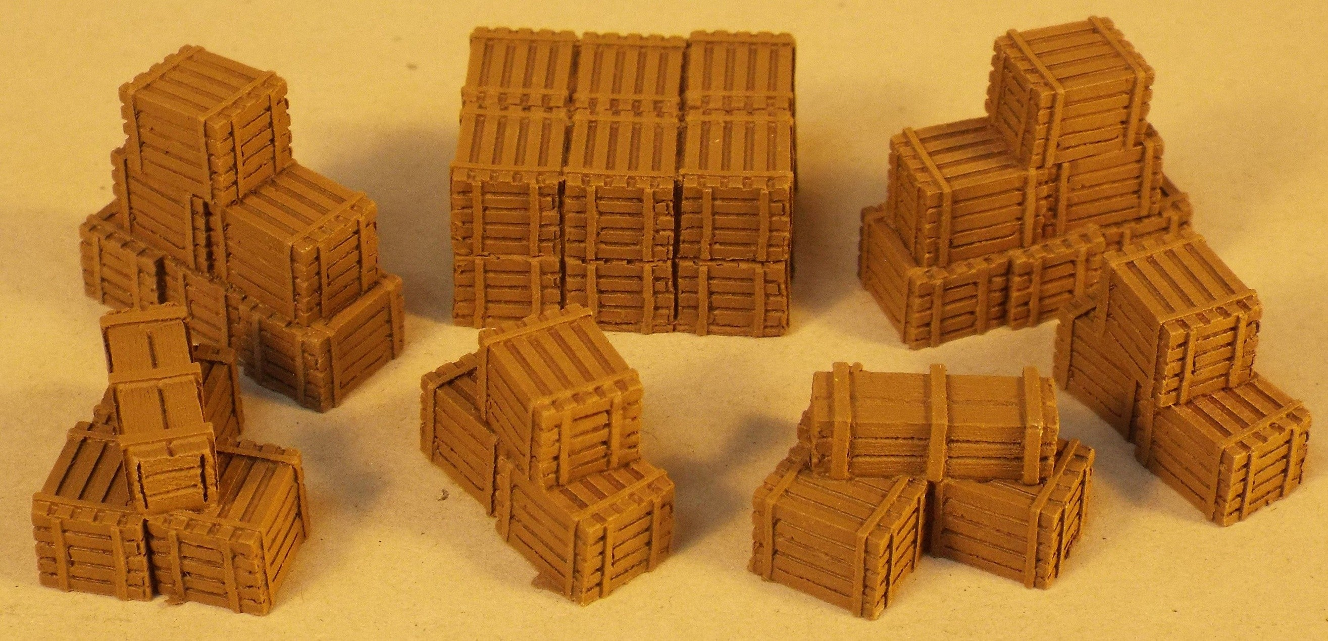 4A/013 Stacks of Wooden Crates (resin x7)