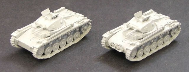 CD320A  Panzer II c/A. 1 supplied - picture shows assembly options