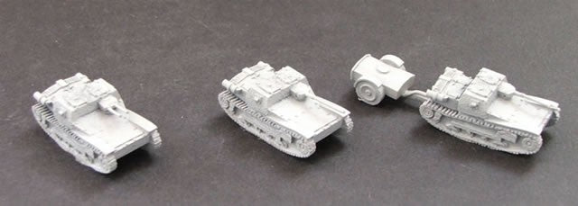 CD550  L3/33 Light Tank (x2) - with optional weapons including 1x flamethrower. Picture shows different weapon fits.