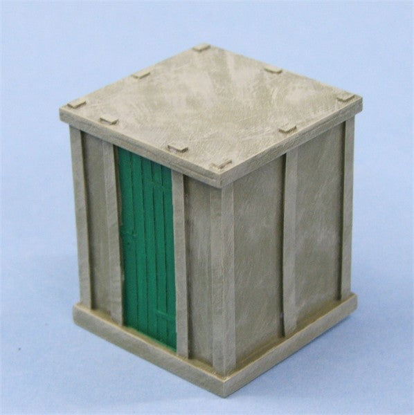 7/029P Concrete Tool Hut Flat Roof Type *Painted*