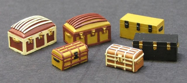 SMRA54 Assorted Trunks (resin)