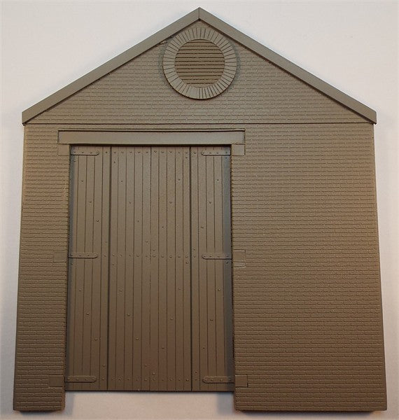 SMRS45B Brick Single Storey Gable End Panel with L.H. Wagon Entrance/Wooden Doors