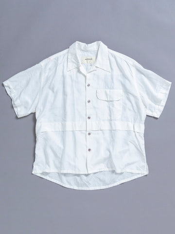 AN105 S/S ReSIZE OPEN COLLAR SHIRT WHITE OW