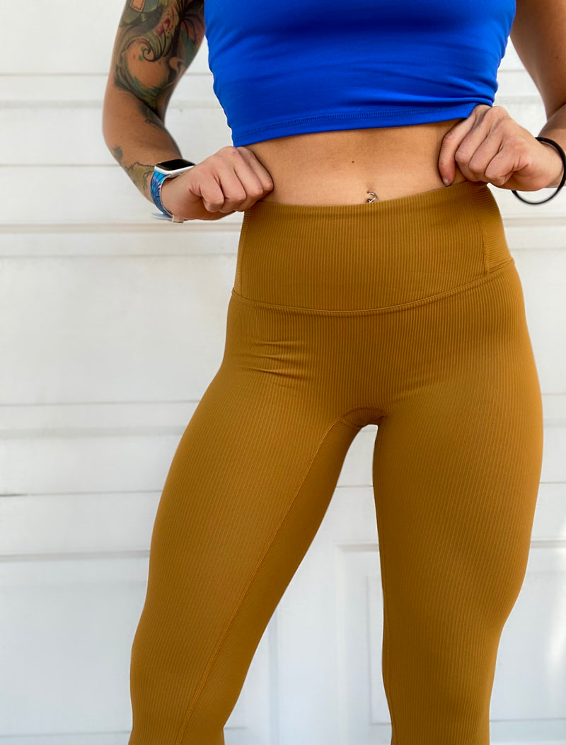 Sexy Yet Savage® Ribbed Seamless Leggings | Hialeah Collection | Mustard - Sexy Yet Savage®