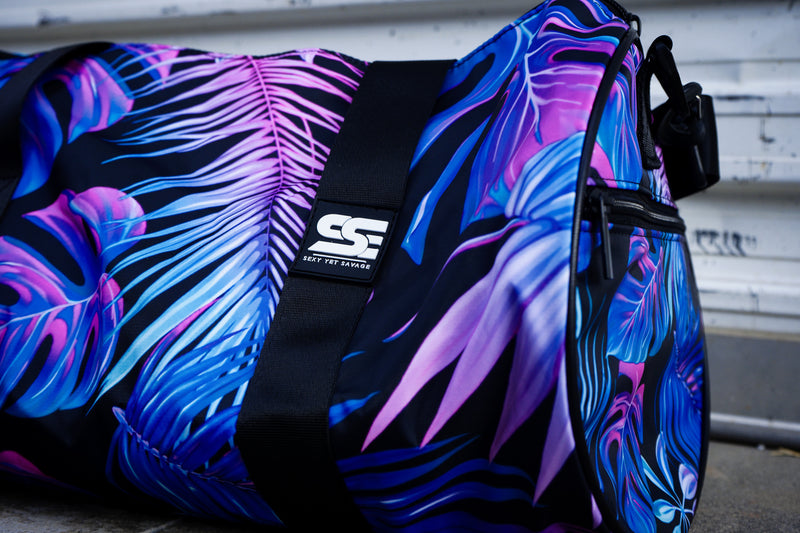 Sexy Yet Savage® Gym Duffel Bag | Purple Palm - Sexy Yet Savage®