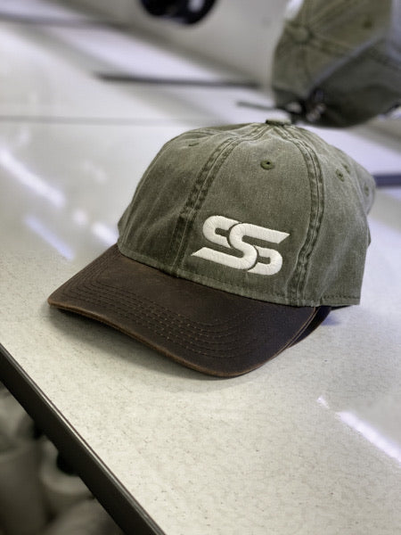 Sexy Yet Savage® SS White Logo Dad Hat | Olive/Brown - Sexy Yet Savage®