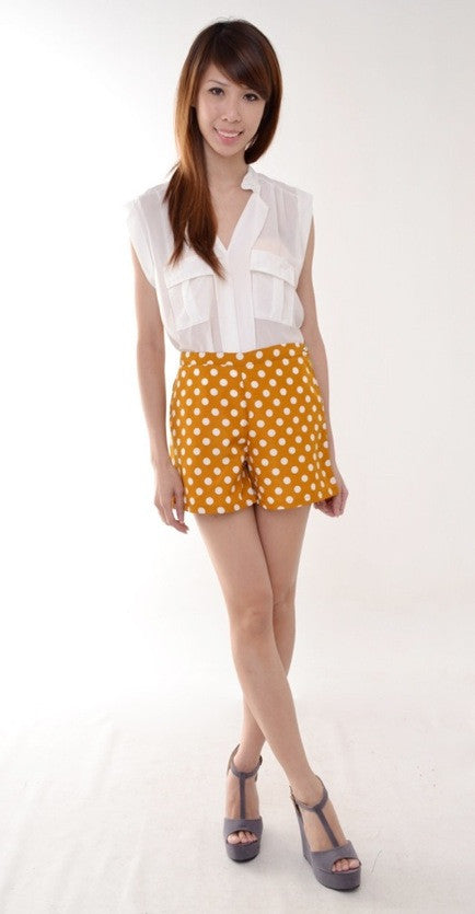 Polkadot HW shorts in MUSTARD