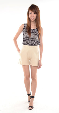 Essential Basic HW Shorts in NUDE
