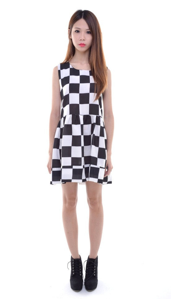 Oversized Checkmate Dress
