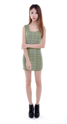 Neon Pop Bodycon in LIME