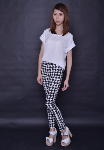 Houndstooth Slimming Pants