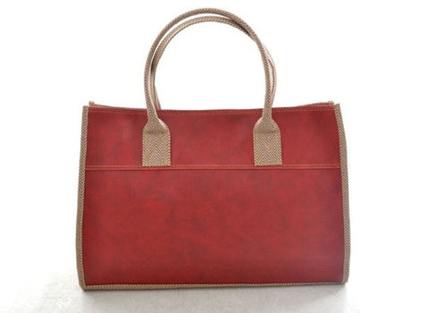 Emily Basic Tote in RED