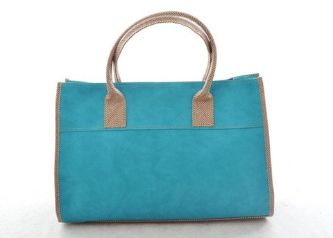 Emily Basic Tote in CYAN