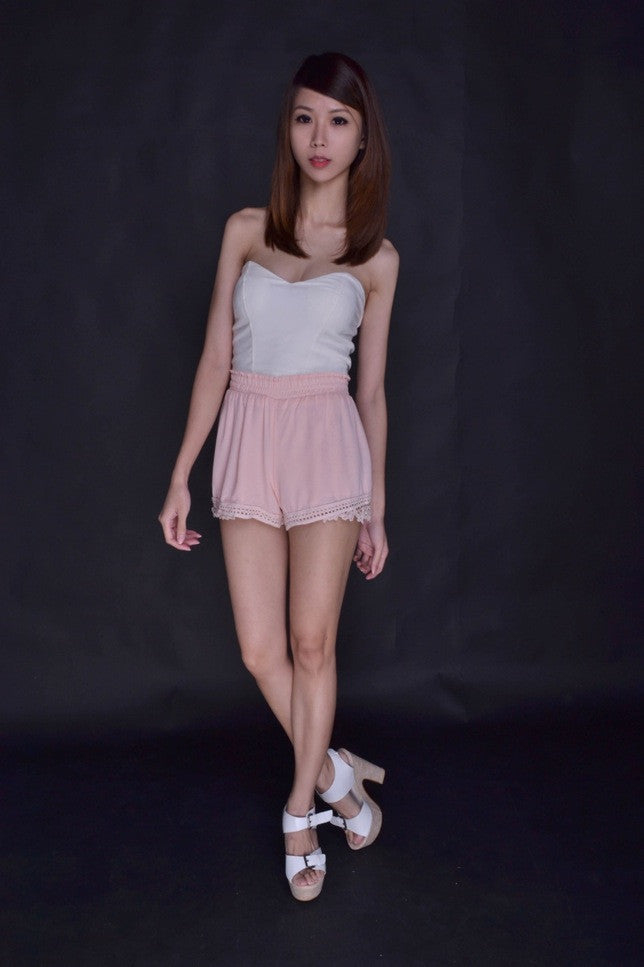 Kate Crotchet Shorts in BLUSH