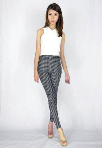 Gathe Grid Pants