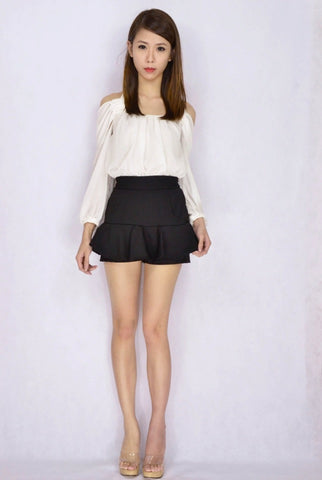 Agri Frill Skorts (v.2) in  BLACK