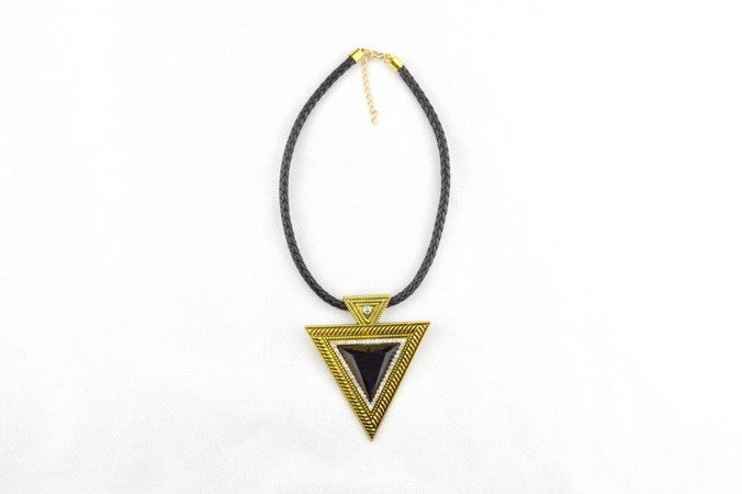 The Triangle Diamante Necklace in RUSTIC GOLD