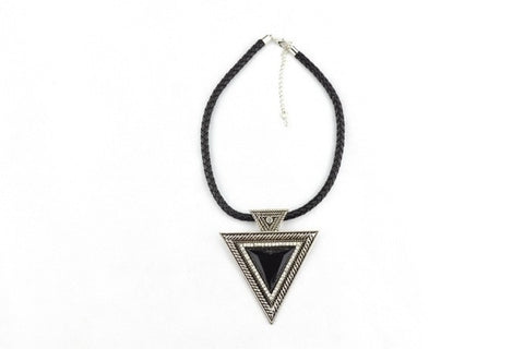 The Triangle Diamante Necklace in SILVER