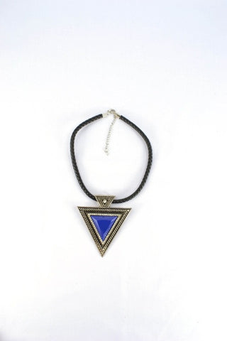The Triangle Diamante Necklace in COBALT