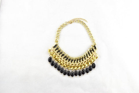 Zale Layered Necklace in BLACK