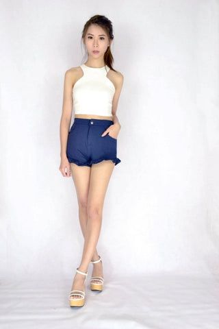 *RESTOCKED* Frilly Frilly Shorts in NAVY