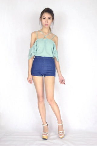 AA Basic High Waist Shorts (SIZE M)