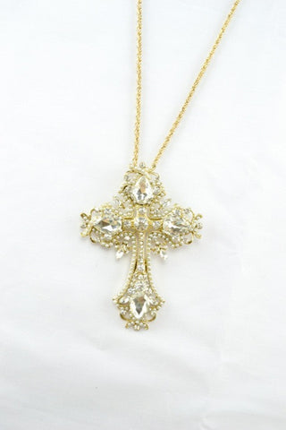 Enchanted Cross Long Necklace
