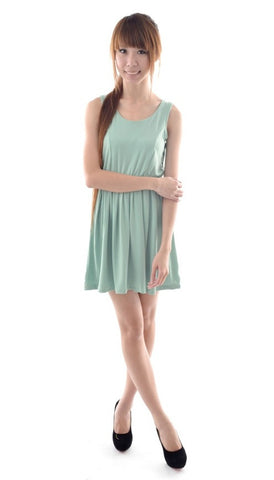 Multi-panelling dress in MINT