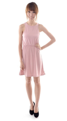 Nina Racer dress in BLUSH