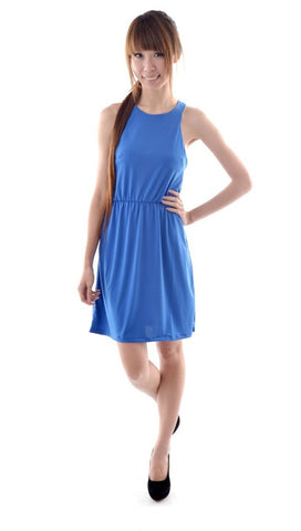 Nina Racer dress in ROYAL BLUE