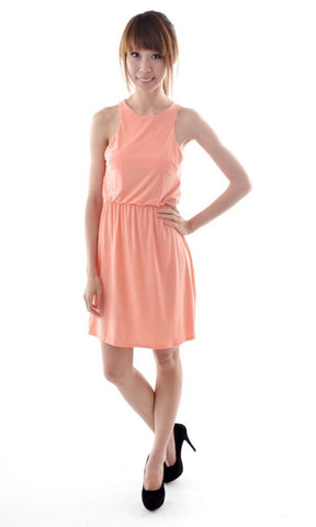 Nina Racer dress in SALMON