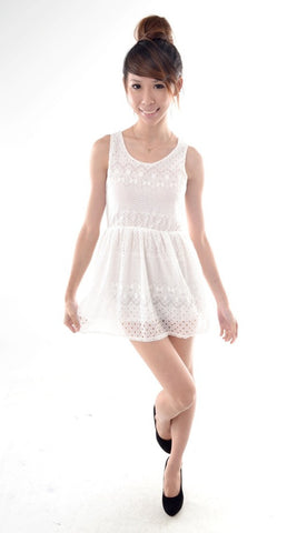 Crotchet Lace mini dress