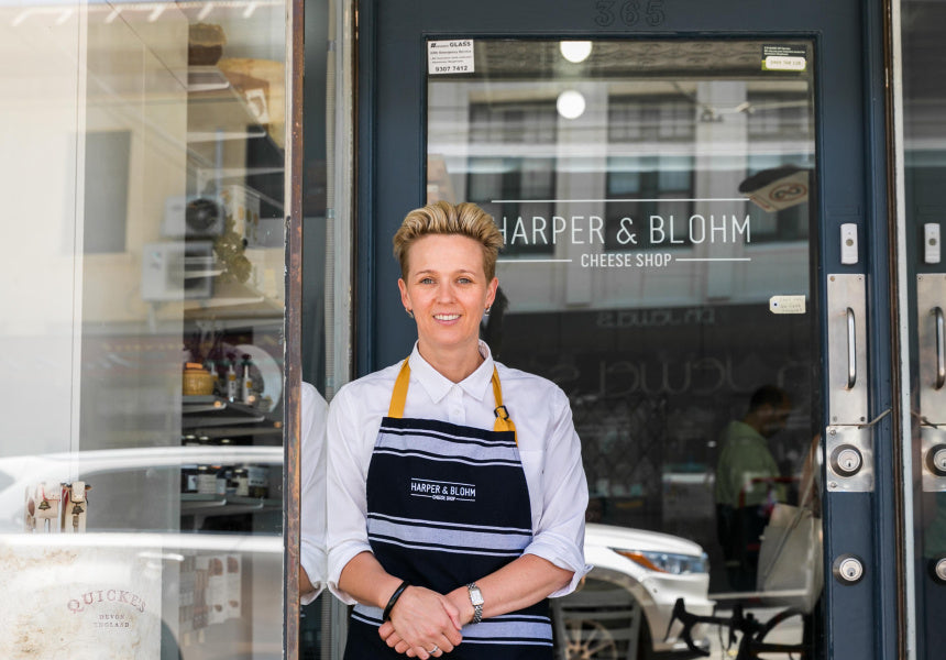 Olivia Sutton, Harper and Blohm Cheese Shop, Cooking the Books Podcast with Robbie Bell