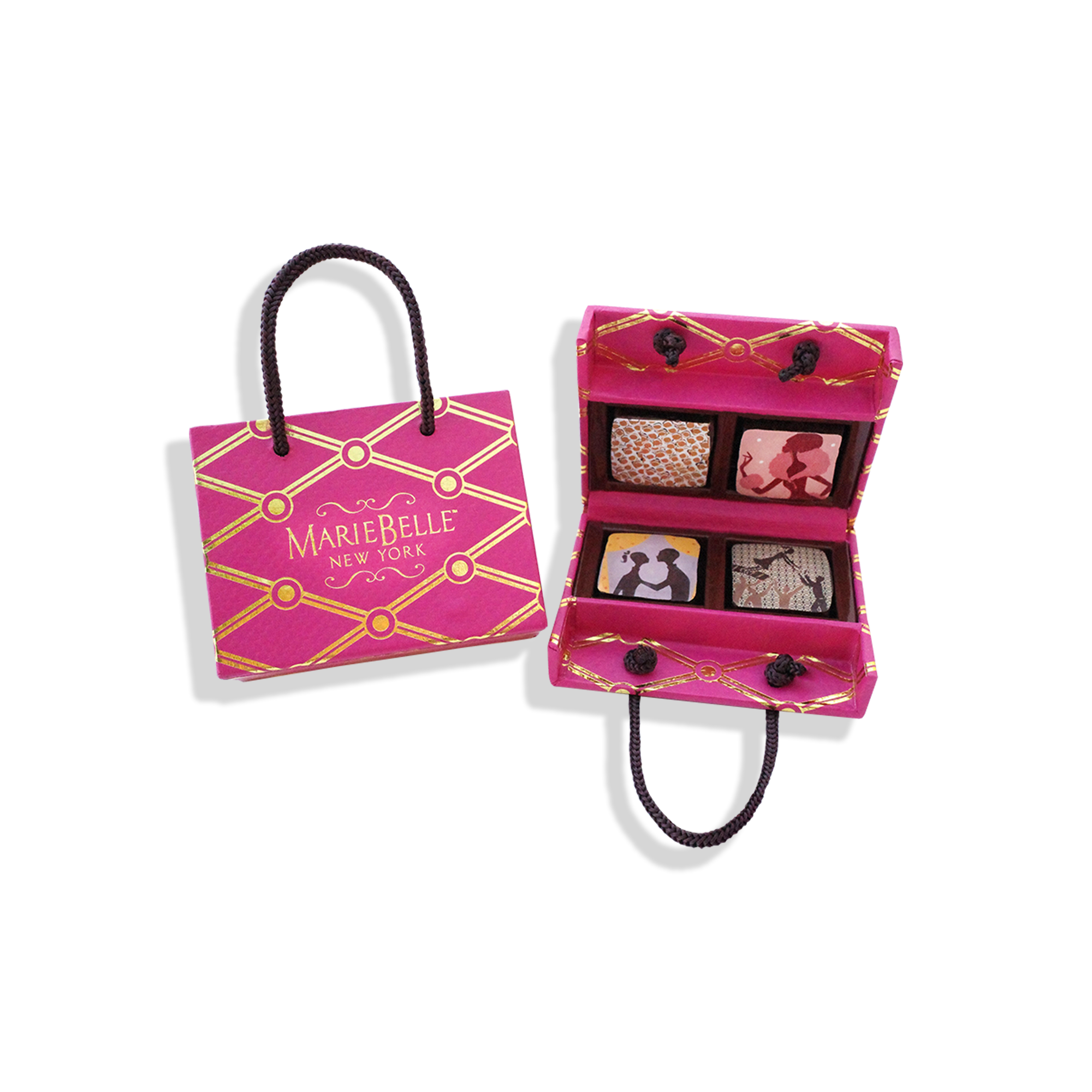4pc Ganache in Pink Tote Box