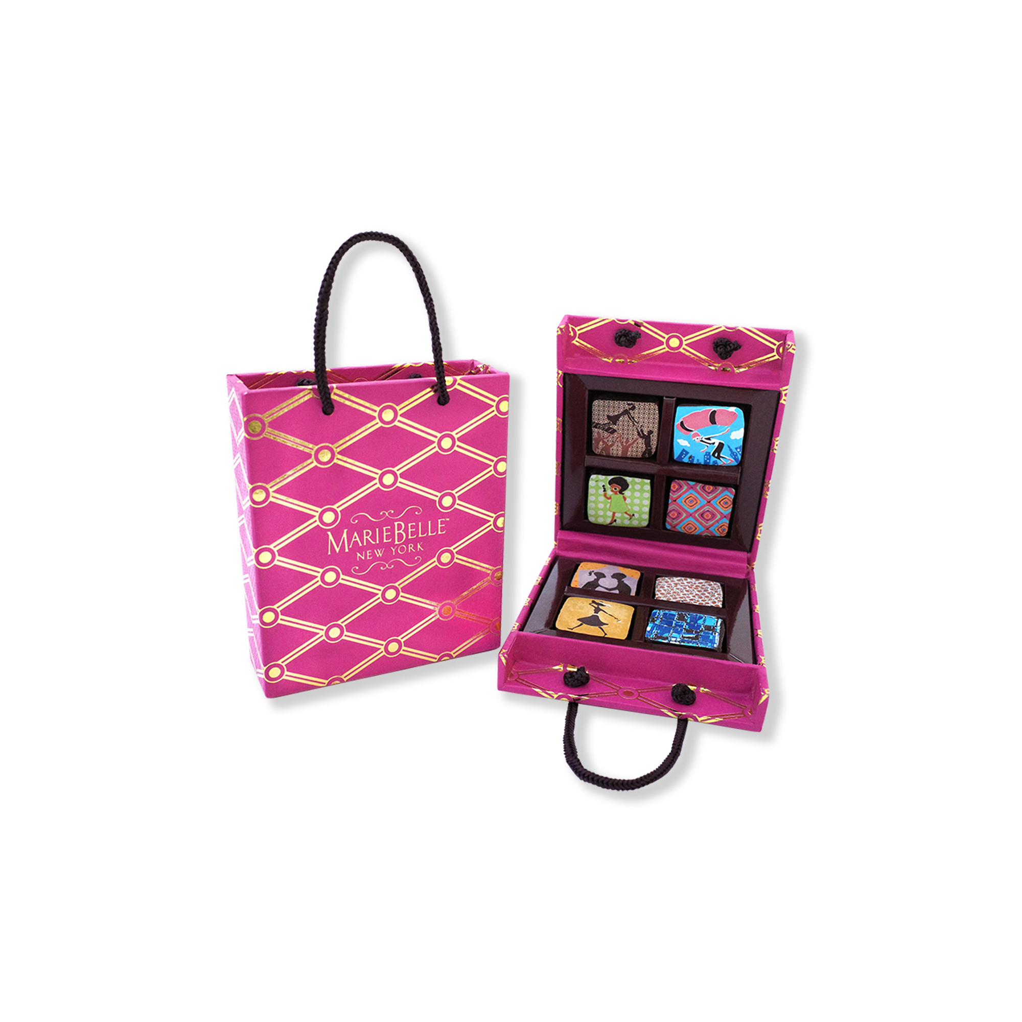 8pc Ganache in Pink Tote Box
