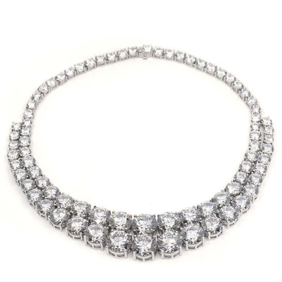 Anastasia 14 Necklace Diamond White - Anna Zuckerman Luxury